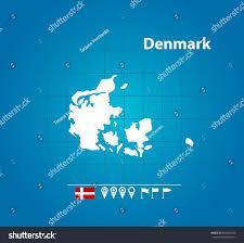 Map Of Denmark Detailed Vector Map Denmark Name Country Stock Vector 693659476