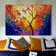 Peacock Home Decor Shop My First Painting Dezigningart Com Cherry Tree Loversiq