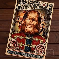 Circus Home Decor Barnum And Bailey Circus Freak Show Vintage History Retro Poster