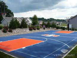 Half Court Basketball Dimensions For A Backyard by Versacourt Game Court Solutions For Landscape Designers