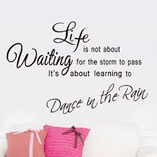 english famous quote life is not about waiting removable english famous quote life is not about waiting removable characters writing vinyl decal wall sticker mural home decor in wall stickers from home garden on