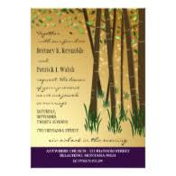 forest wedding invitations woodland and forest theme wedding invitations discount wedding