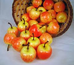 Kitchen Apples Home Decor Bulk Wholesale 100pcs Fake Mini Red Fuji Apple Plastic Artificial