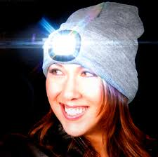 hats with lights built in grey led beanie beanie hat with built in led torch pink cat shop