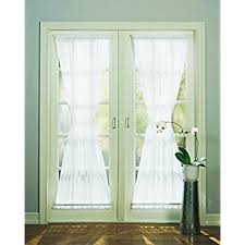 Mint Green Sheer Curtains Amazon Com Sheer Voile 72 Inch French Door Curtain Panel White