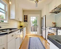 Galley Kitchen Rugs Galley Kitchen With White Cabinets And Rug Runner Make A Galley