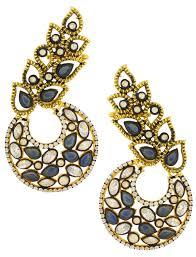 Designing Women Aids Buy The Jewelbox Designer Flower Kundan Sapphire Blue Gold Plated