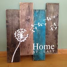 rustic wood and metal wall art beach style compact interior