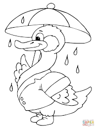 duck with umbrella clipart 28
