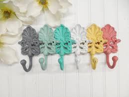 you pick colors set of 3 hooks coat hook shell hook wall