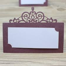 place cards wedding burgundy wedding place card crown laser cutting table name card