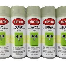 glow in the spray paint krylon glowz glow in the green spray paint 6oz 170g crafts