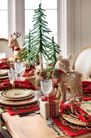 furniture design decorating a table for christmas