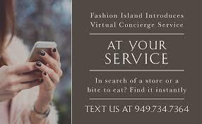 fashion island guest services concierge