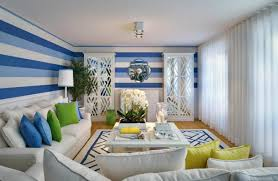 Modern Wallpaper Designs by Bright White Living Room Interior With Modern Sofa And Table Along