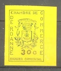 chambre du commerce roanne stamp timbre greve n 14 chambre commerce roanne 1968
