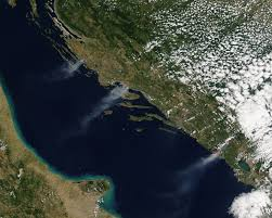 Map Of Croatia And Italy by Nasa Sees Smoke From Fires In Croatia And Montenegro Nasa