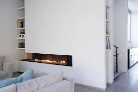 ortal fireplaces for a contemporary living room with a linear