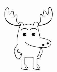 cute moose coloring pages getcoloringpages com