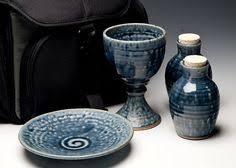 travel communion set travel home portable clay communion set by wortmanpottery on