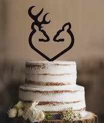 buck and doe cake topper traditional buck and doe heart wedding cake topper classic deer