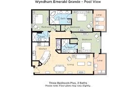 wyndham la belle maison floor plans club wyndham wvr emerald grande destin