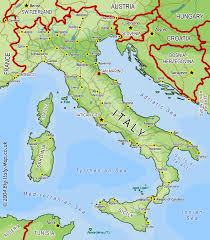 Italy Physical Map by Index Of Maps