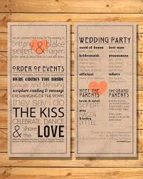 Cute Wedding Programs Yes It U0027s Playful And Cute We Would Just Need To Dress It Up To
