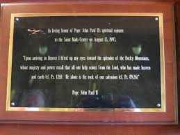 Pope John Paul II quote about St Malo Chapel Picture of Chapel