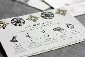 wedding invitations timeline style laser cut invitations