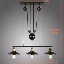 industrial pulley pendant light vintage loft industrial pulley pendant light adjustable wire