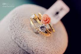 rings girls images 2018 2 fashion jewelry women gold plated pearl finger rings for jpg