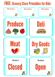 Free Grocery Store Printables For Kids The Best Toys Make Life