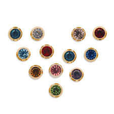 ear piercing studs studex ear piercing studs assorted bezel set birthstones 4 80mm