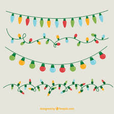 assortment of colored christmas lights vector free download