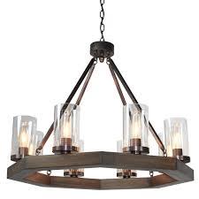 Lighting Chandelier Medieval Modern 8 Light Octagon Chandelier Chandeliers Modern