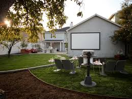 Backyard Theater Ideas How To Host On A Big Screen Diy Network Made