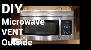 microwave with fan over the range over range microwave vent to outside youtube