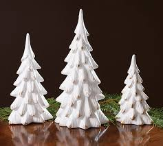 white brushed gold porcelain tree set