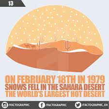 snowing in sahara desert factographic
