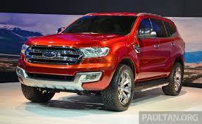 Ford Everest Facelift Ford Everest Concept Unveiled At 2014 Bangkok Motor Show
