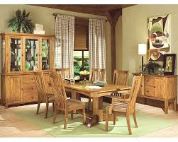 oak dining room sets intercon solid oak dining set highland park inhp4296set