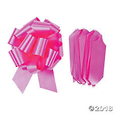 pull bows pink wedding pull bows