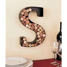 Wine Glass Wall Decor Amazon Com Wine Glass Cork Holder Art Wall Décor Metal Set Of