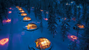 sleep under the northern lights amazing igloo in finland northern lights digi dunia