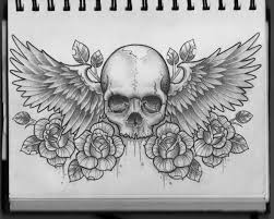 skull and wings chest design ink pinterest tattoo tatting