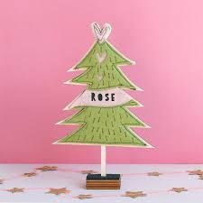 personalised free standing felt christmas tree by house of hooray