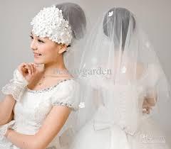 wedding dress accessories wedding bridal dress gown mantilla veil with flower hairband hair