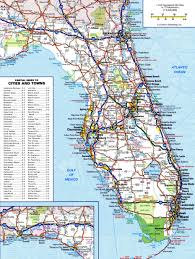 Topographical Map Of Florida by Large Detailed Roads And Highways Map Of Florida State Vidiani