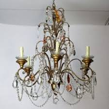 Chandelier Bobeches A Really Pretty French Waterfall Chandelier Brass Frame Decorated